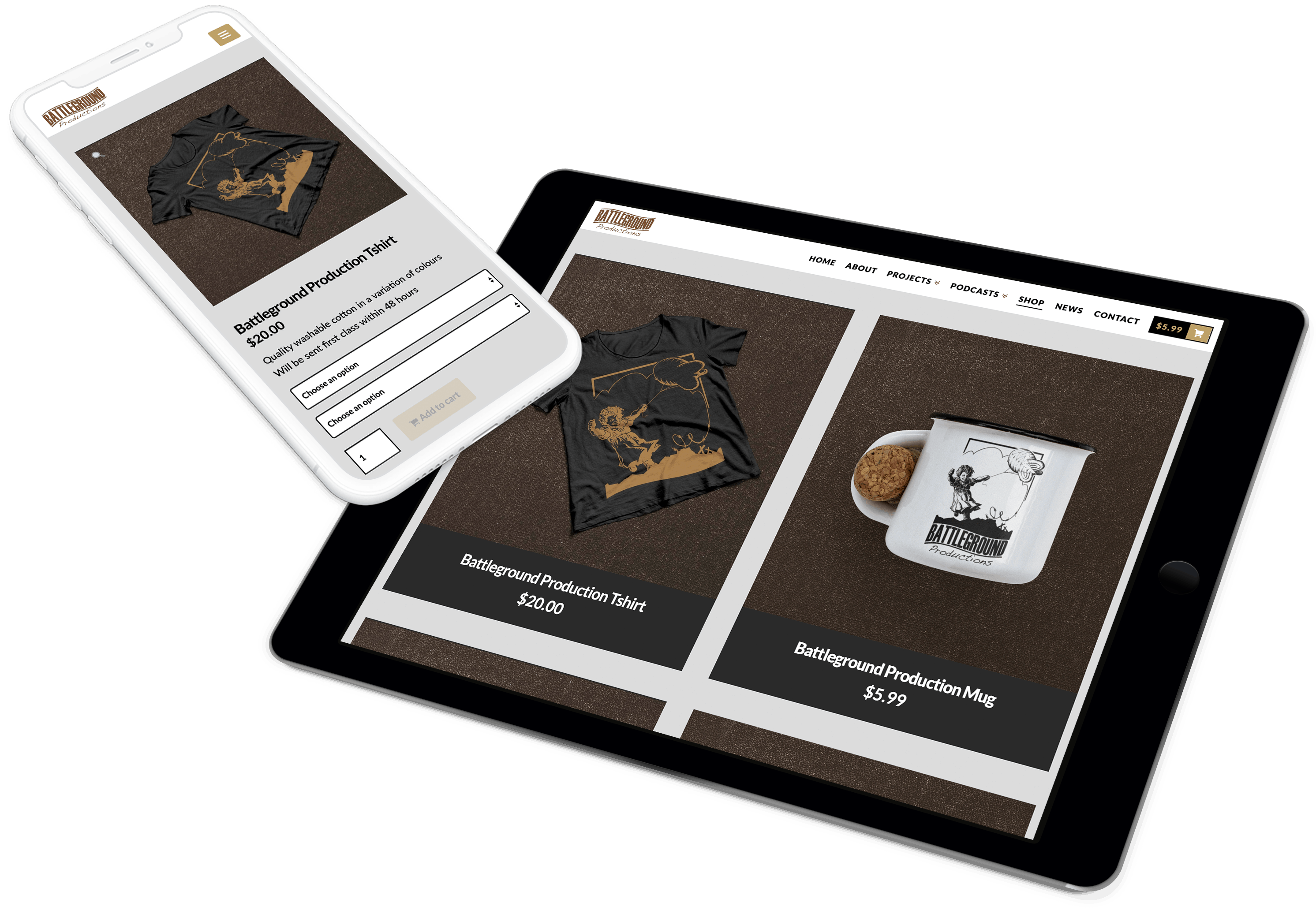 Battleground Productions Web Design E Commerce Development